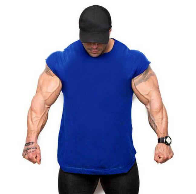 2018 Six Colors Muscle Fitness Cotton Sweat Male Sleeveless Vest 5