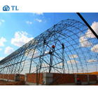 Coal Shed Arch Type Steel Curved Space Frame Dry Coal Covered Shed For Power Plant