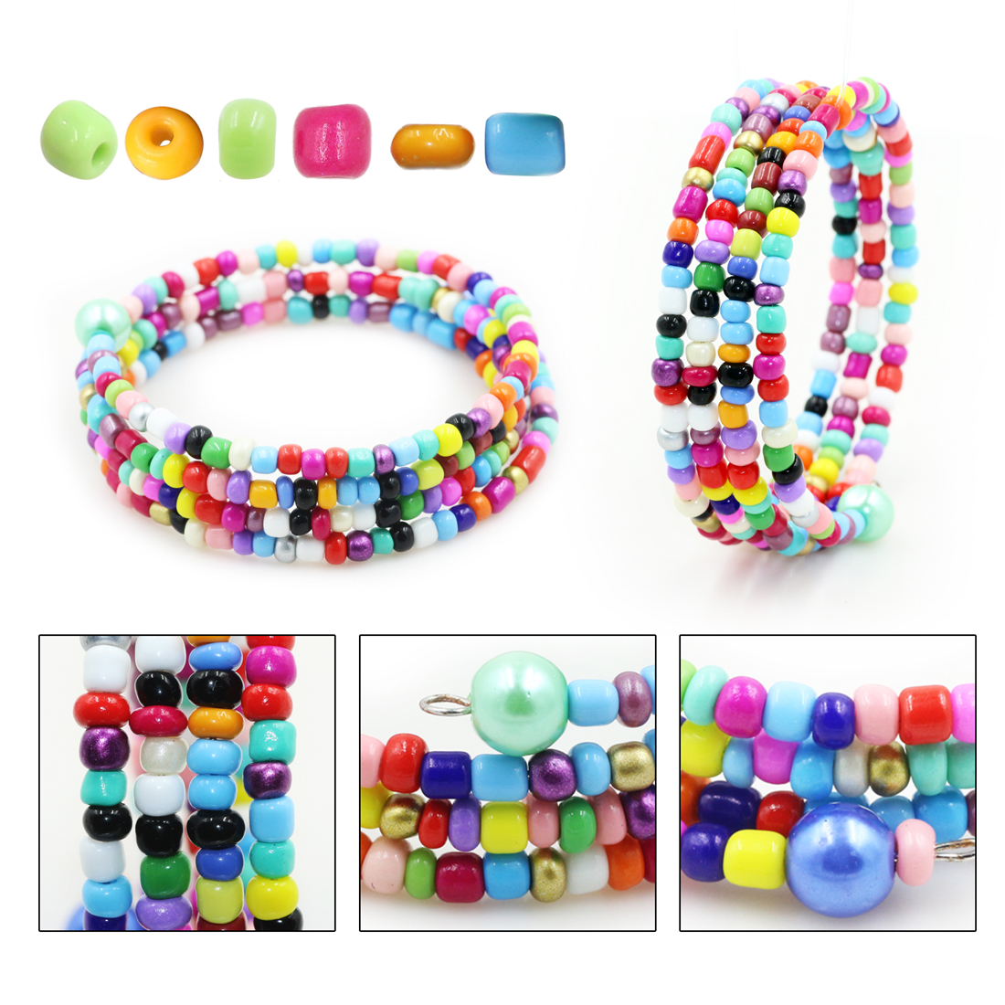 Japanese glass beads for jewelry making bulk crystal lampwork spacer beads for bracelets waist beads charms DIY accessories