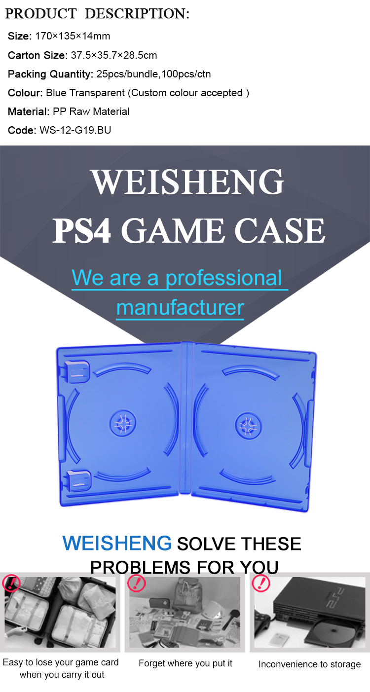 WEISHENG Play Station 4 PS4 Accessoires PS4 Game Box Voor Gameboy