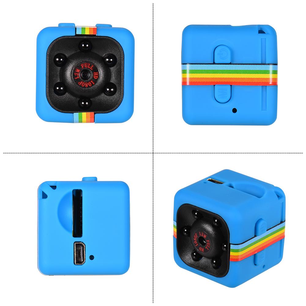Черный/синий мини куб микро камера 1080P HD IR ночного видения 120 ° Широкий Угол 32 Гб расширенная Память тела камера аксессуары для фотографии(Китай)