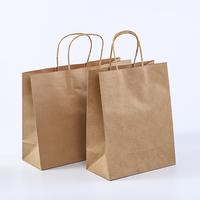 2019 Hot selling kraft paper shopping bags for gift