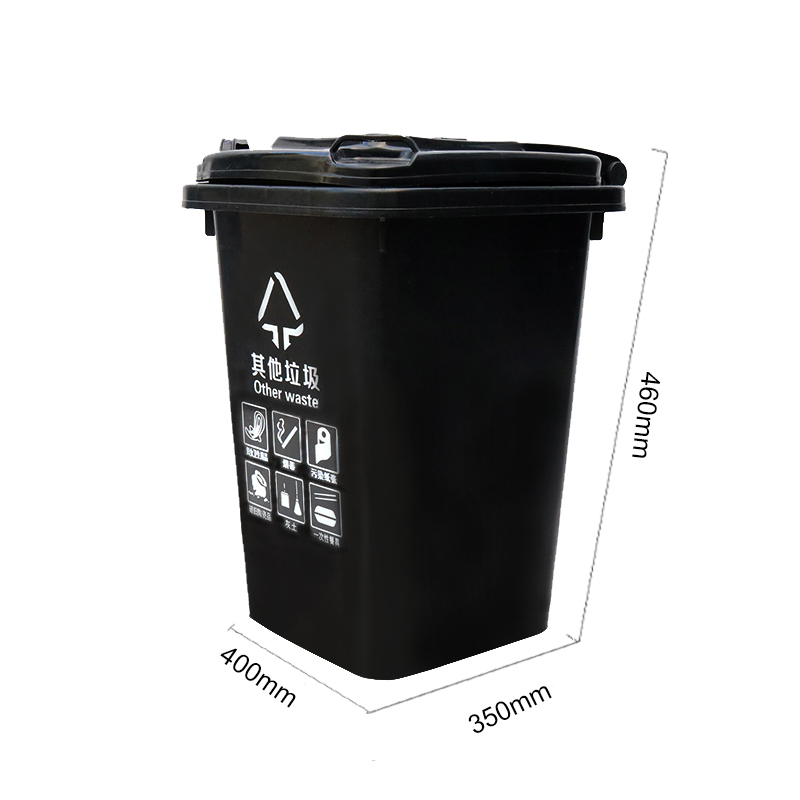 Customized Colorful High quality HDPE plastic 30 gallon trash can  with pedal