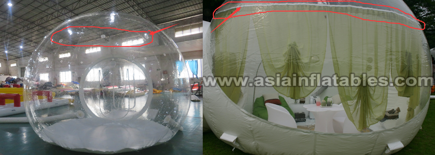 3 Rooms Luxury Inflatable Bubble Camping Tent Clear Bubble Lodge