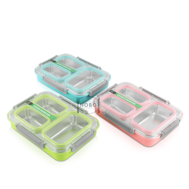 Eco-Friendly Compartment Meal Prep Pack Food Insulated Custom Stainless Steel Lunch Box