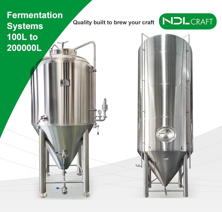 2000L बीयर पक उपकरण टर्नकी संयंत्र बिक्री के लिए माइक्रो शराब की भठ्ठी