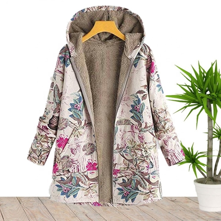 Wholesale Size S 5XL Plus Size Long Sleeve Floral Winter <strong>Trench</strong> <strong>Coat</strong> Jackets <strong>For</strong> <strong>Women</strong> 2020