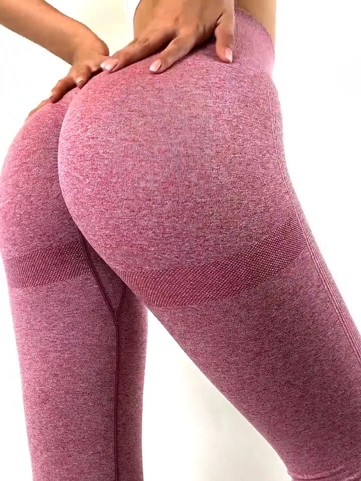 Delle donne A Vita Alta Collant A Compressione Butt Lift Palestra Fitness Yoga Senza Soluzione di continuità Pantaloni Leggings