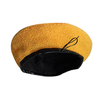 Cheap Wholesale 8 Colors Wool Yellow Beret Hat for Girls Boinas French Berets