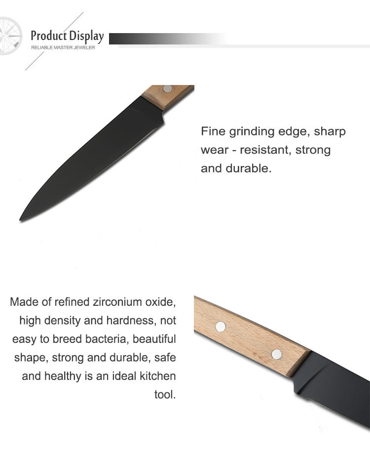 "3.5"" Multi-functional Kitchen Wooden Handle Stainless Steel Fruit Knife Paring Knife"