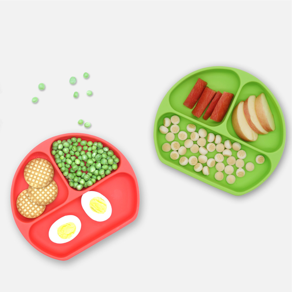 Benhaida Non-slip Suction Cup Silicone Baby Bowl Toddler Baby Silicone <strong>Plate</strong>