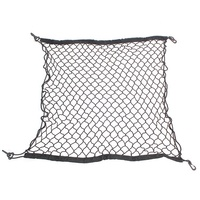 heavy duty elastic plastic rubber mesh bag trellis cargo netting with hooks