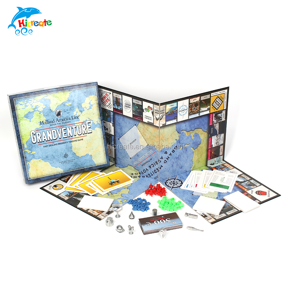 Family game custom colourful board game set for children board games for families with kids