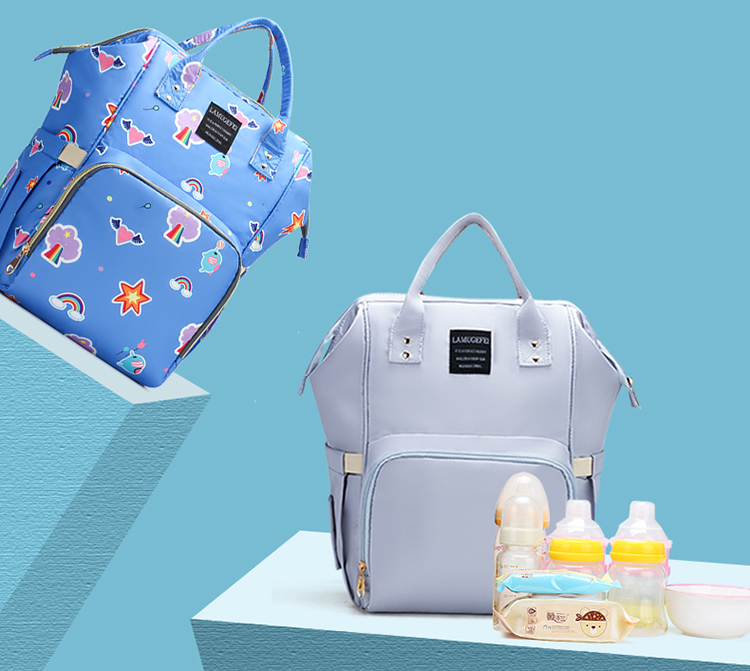 Fashion mummy diaper backpack mother baby care bag