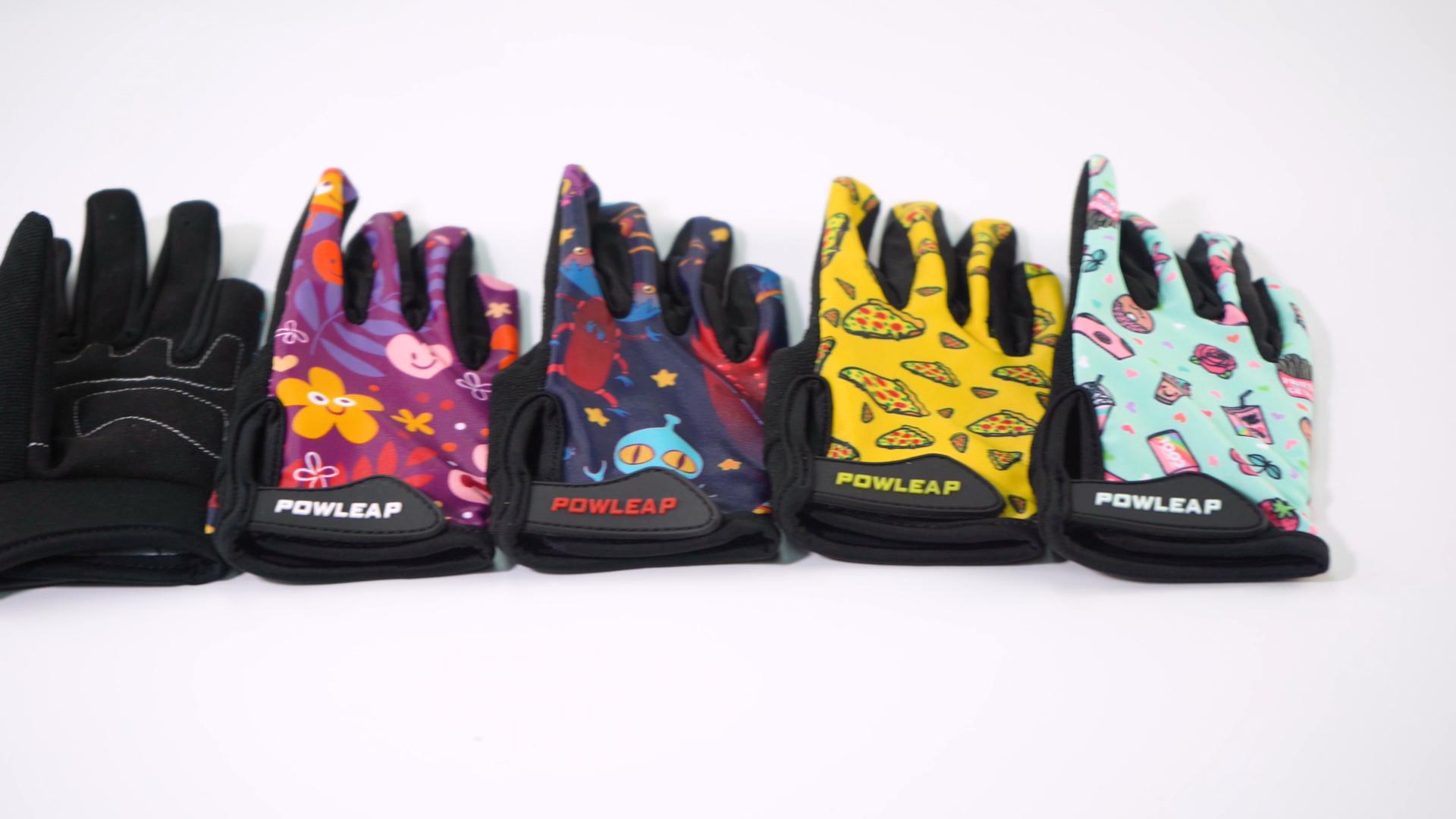 2021 nuovo Stile di Bambini Piccoli Lunga Piena Finger Gloves Bike/Bambini di Strada di Riciclaggio Della Bicicletta Guanti di Sport Per i ragazzi e ragazze