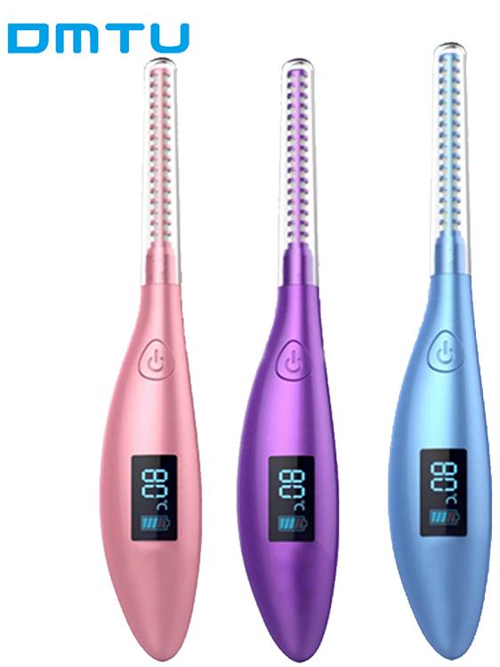 DMTU 2 Niveaus Lash Care Mini Vibrerende Verwarmde Elektrische Wimperkruller