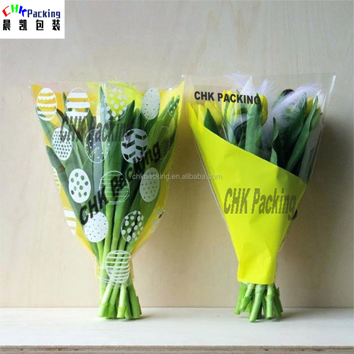 PLA  BOPP CPP printed plastic sleeve for cut flower , plastic Sleeves For pot plant PLA  BOPP CPP printed plastic sleeve for cut flower , plastic Sleeves For pot plant