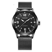 Мужские наручные часы OUBAOER, Роскошные автоматические механические часы с кожаным ремешком в стиле милитари, 2019(Китай)