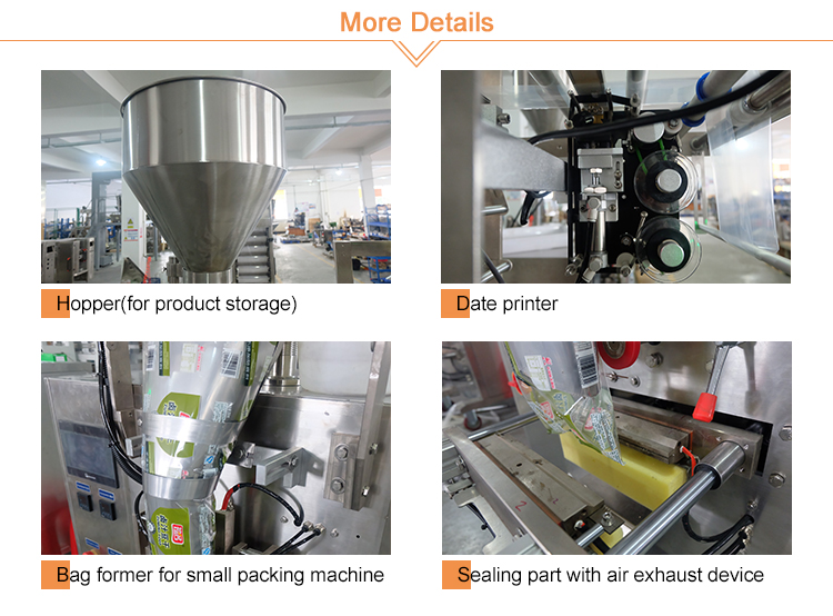 Automatic Small Food Sugar Filling Snacks Bag Sachet Pouch Granule Vertical Packaging Machine