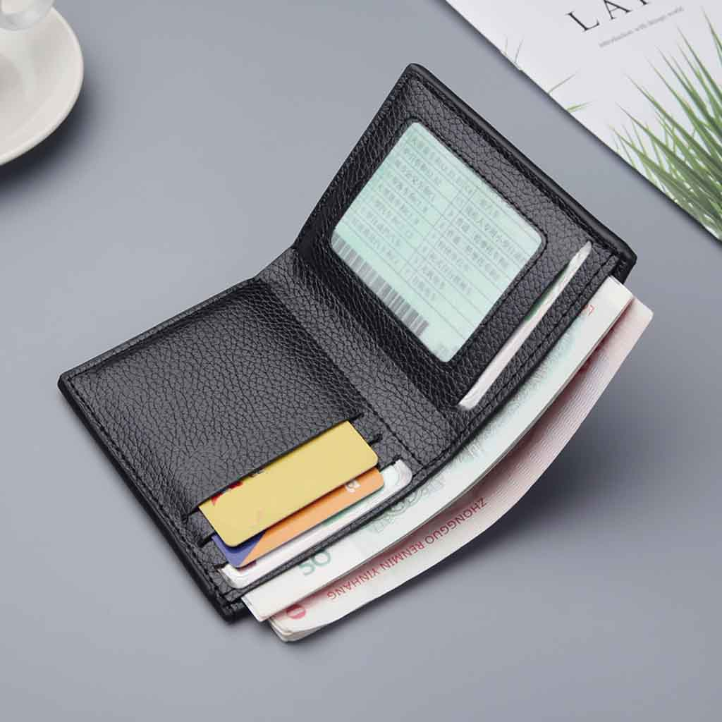 product-GF bags-Vintage Men Wallet Leather Short Wallets Male Multifunctional Card Holder Solid Coin-1