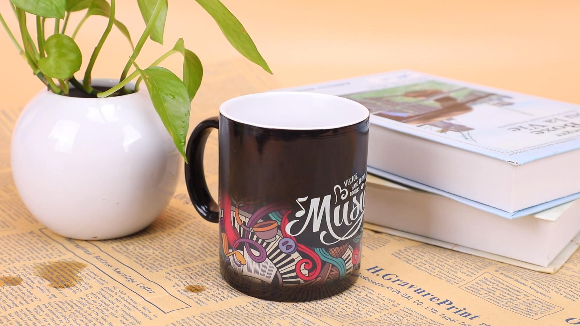 Color Changing Tazas Para Sublimar Ceramic Travel Mug