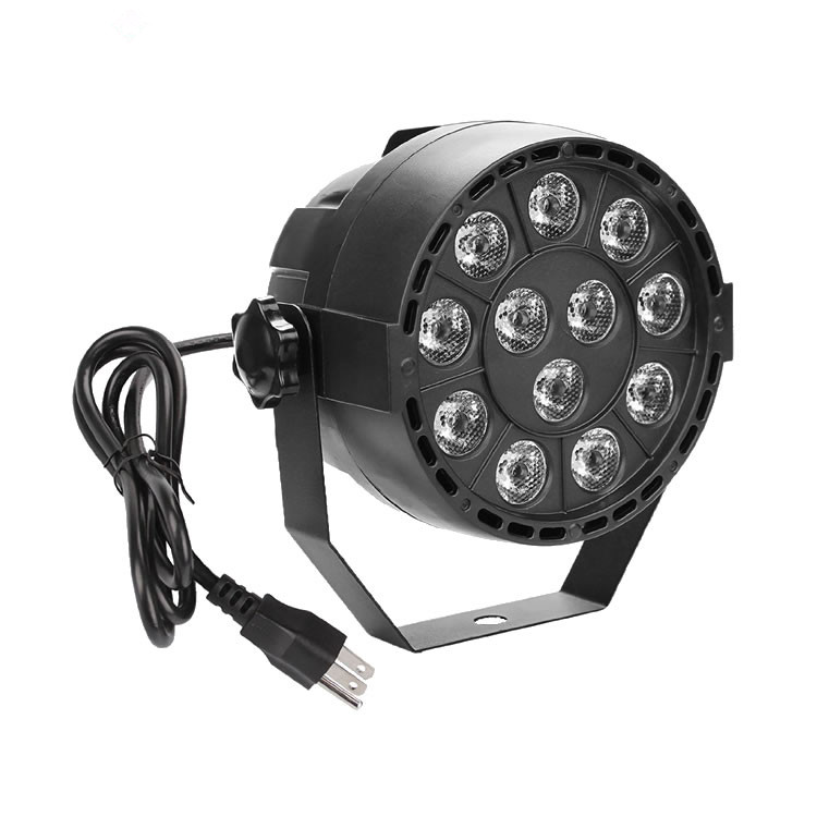 Wholesale Party Disco 12pcs RGBW Mini Flat LED Par Light