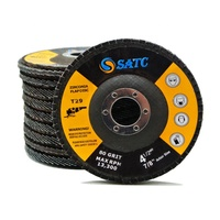 SATC Hot Selling Abrasive Flap Disc 4.5x7/8 Inch Extra Power Grinding Wheel for Steel Alloy