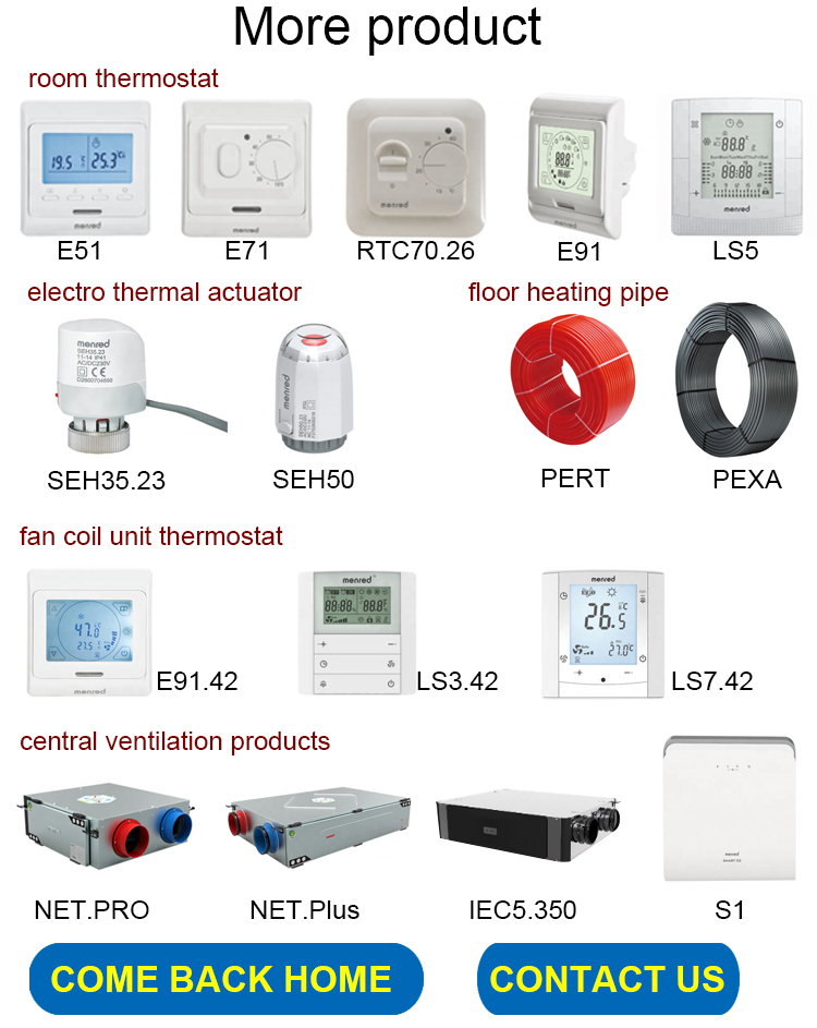 E71.36 Menred 16A Electronic Underfloor Heating Room Thermostat With Ce And Rohs Certification