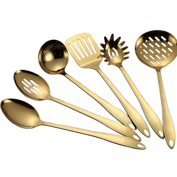 high quality copper rose golden vintage stainless steel kitchen utensils cooking tools