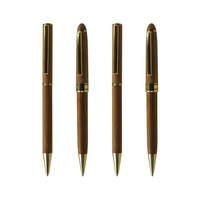 Customized logo engraved promotional advertising bamboo ball point pen