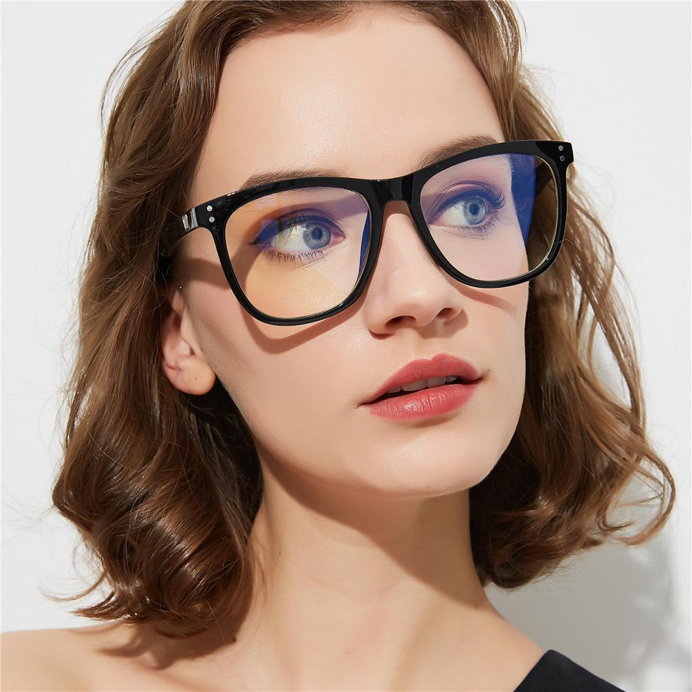 K32934 Oversized Women Optical Frames Anti Blue Ray Eyeglasses Computer Blue Light Blocking Glasses