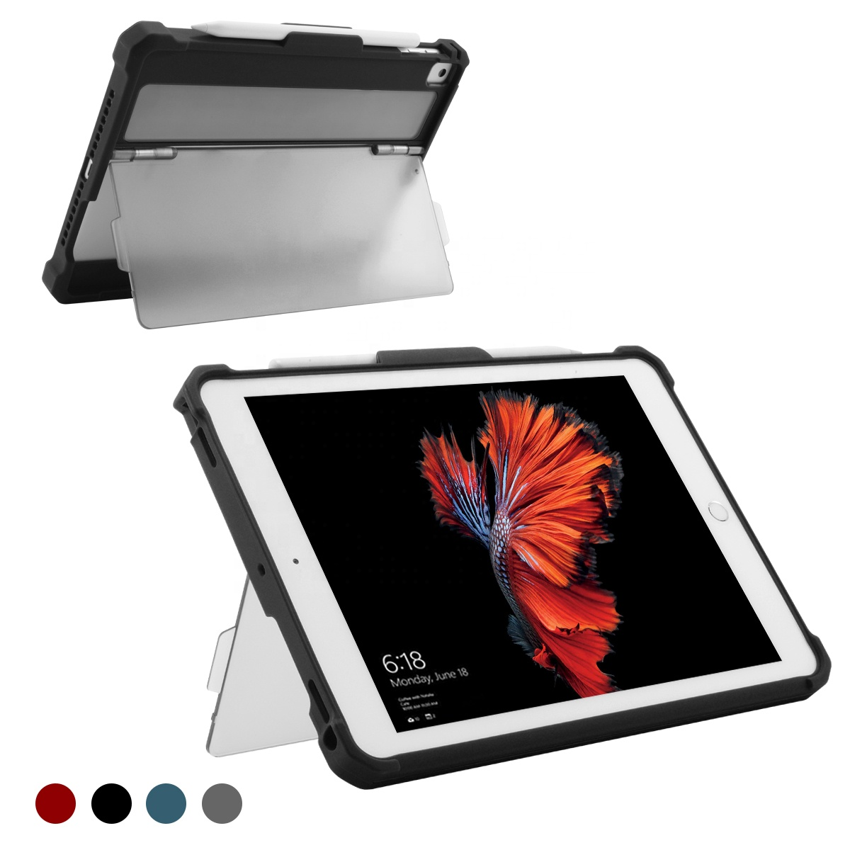 top sell tablet heavy duty soft tpu bumper case cover with flexible standing for <strong>ipad</strong> 9.7, universal TPU rugged case