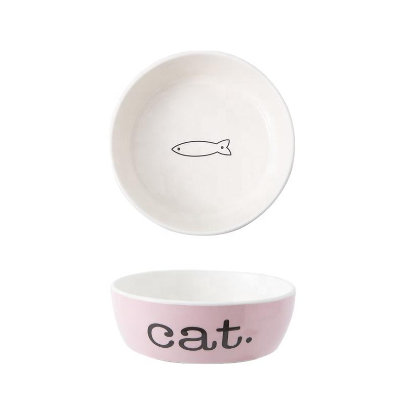 Цвета: небесно-голубой, розовый, милый кормушка для домашних животных керамический корм для собак кошка собака щенок чаша