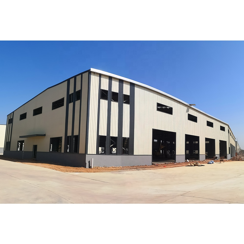 Construction prefab fabrication prefabricated prefab factory steel structure workshop warehouse building with sandwich panel