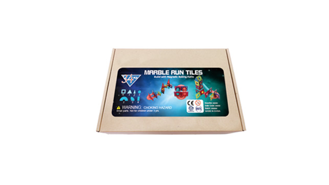 3D Transparent Children Magnetic Set Ball Play Maze Race Set Toy Marble Run Tiles