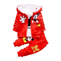 EG-SYGQ166 Children fall and winter 3 pieces wholesale baby boys and girls clothing sets boutique cartoon pattern fashionable cl