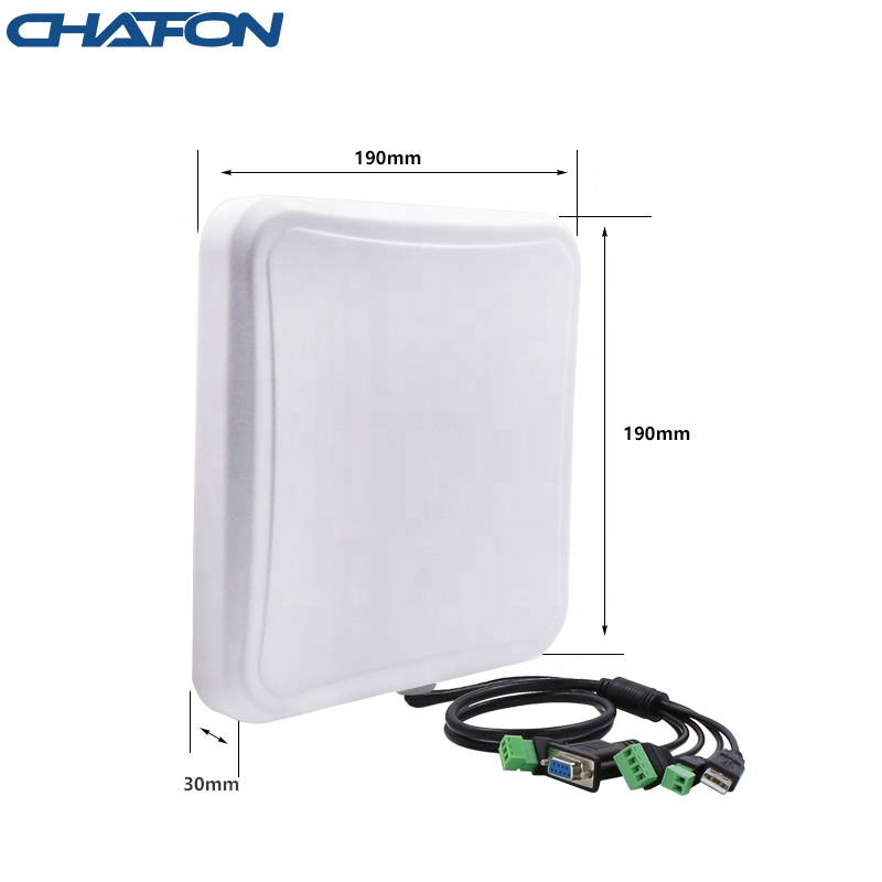 CHAFON IP67 waterproof 8m long range uhf antenna low cost rfid reader with USB RS232 WG26 interface for outdoor vehicle tracking