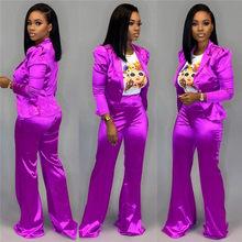 Adogirl одноцветное для женщин Бизнес костюм офисные женские туфли повседневное комплект из двух предметов блейзер с длинным рукавом пальто Т...(Китай)