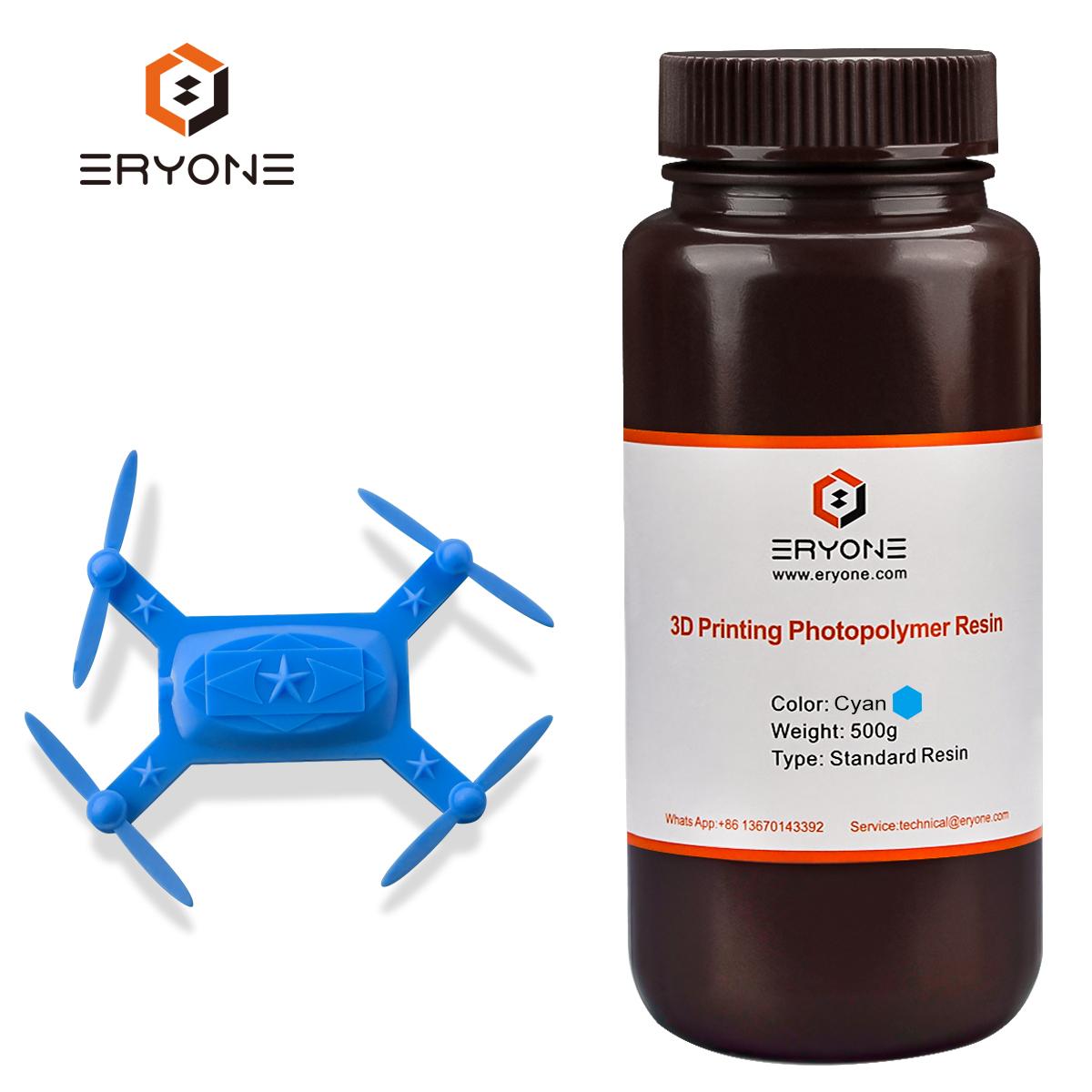 Eryone 405nm UV Faible Odeur Couleur Bleue 3D Imprimante Résine Résine Photopolymère Liquide pour LCD DLP 3D Imprimante Couleur De Mélange disponible