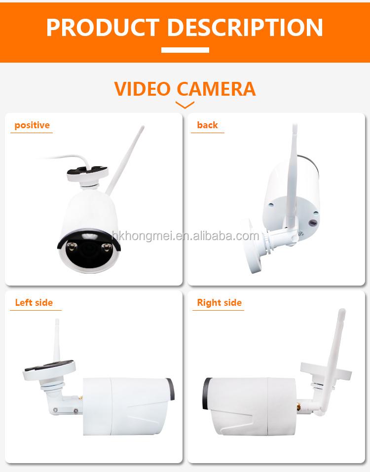 מתכת עמיד למים חיצוני H.264 + 8ch 1080P 2MP 8 מצלמות וידאו מעקב wifi nvr ערכה