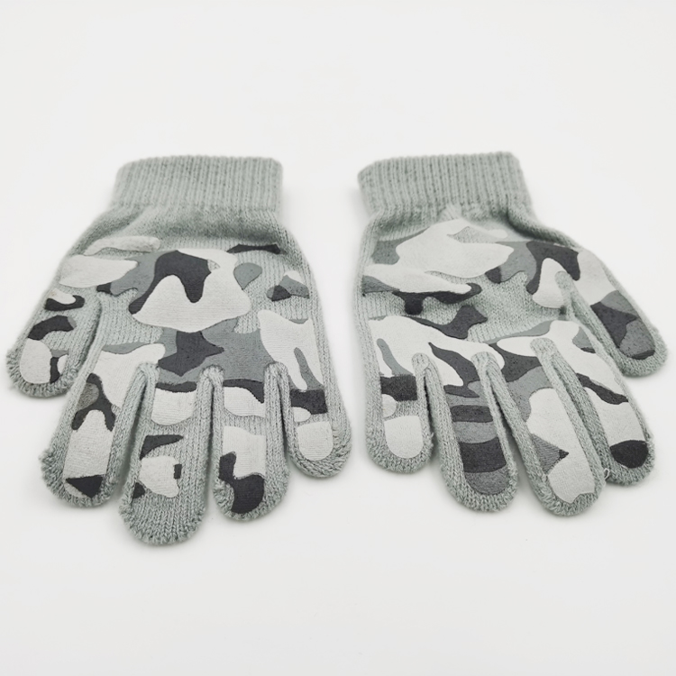 Handsome simple high-quality winter warm knitted cotton gloves