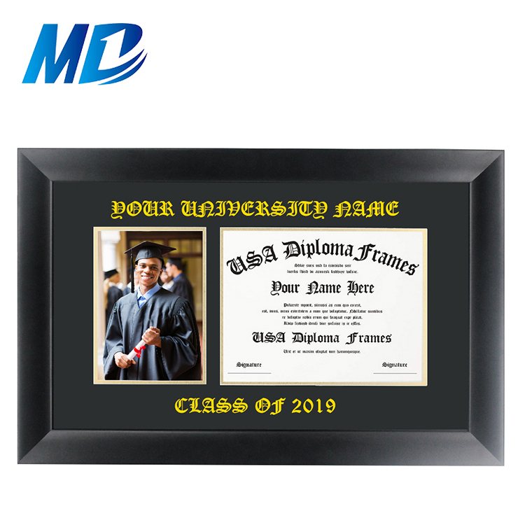 Black Solid Wood Frame Diploma Certificate Picture Frame Wholesale