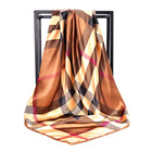 Scarves The 90cm Color Printed Large Square Scarf Imitations Silk Scarves