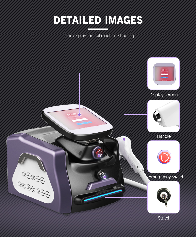 Hot sale depilation 3 wavelength 755nm 808nm 1064nm diode laser hair removal machine