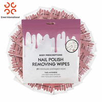 OEM Disposable Sanitary Lint Free Wet Wipes Nail Polish Remover Pads