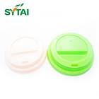 Disposable hard strong plastic lids for paper coffee cups