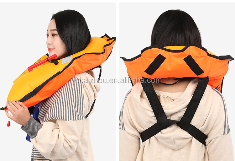 Cheap Factory Adult Automatic 33g CO2 Cylinder Inflatable Life Jacket