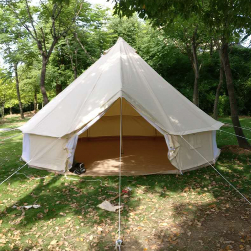 ENJOIN Outdoor Cotton Canvas Teepee Modern Pagoda Luxury Yurt Bell Tent For Family Camping