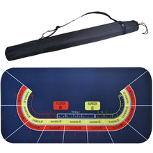 Baccarat layout 10 mensen spelen 1 .. 8 m poker mat blauw marine rubber casino <span class=keywords><strong>roulette</strong></span> product china poker kleding