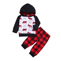 Wholesale Boutique boy outfit christmas Baby Girls clothing sets